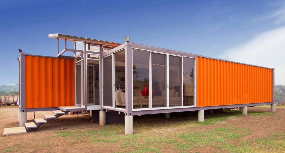 container haus 40 fuss cube haus. Black Bedroom Furniture Sets. Home Design Ideas